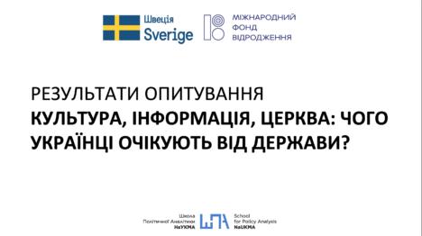 Культура, інформація, церква: чого українці очікують від держави